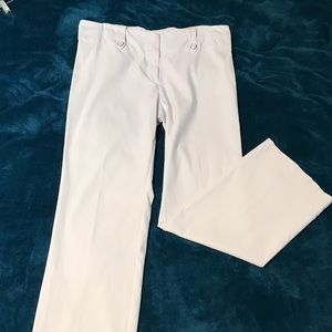Halo white stretch slacks